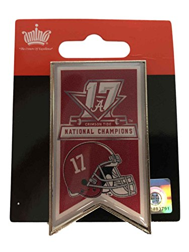 Alabama Crimson Tide Logo Lapel (Alabama Crimson Tide 2017-2018 CF National Champions Banner Metal Lapel Pin)
