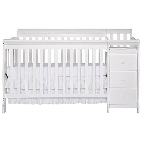 Dream On Me 5 in 1 Brody Convertible Crib with Changer, White by Dream On Me