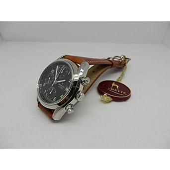 Uhr Levrette Herren 7002 – 20 Schalter Stahl Quandrante schwarz Armband Leder