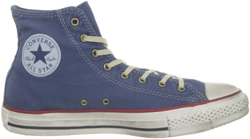 Converse All mode Star Hi Bleu Baskets Wash Denim Bleu adulte mixte Taylor Chuck Fash Urq4xU