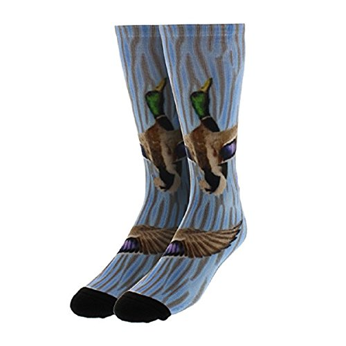 Men's Wildlife Series Mallard Duck Hunting Crew Socks - Mallards By Terry