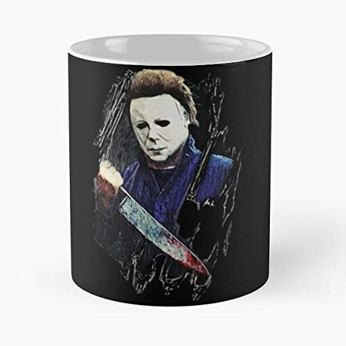 Mike Halloween Horror Movies Scary - 11 Oz Coffee Mugs Unique Ceramic Novelty Cup, The Best Gift For Halloween. -
