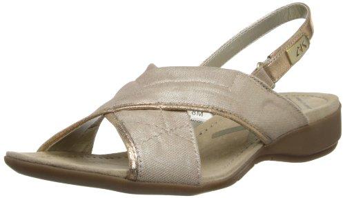 Anne Klein Sport Women's Kachine Fabric Wedge Sandal,Natural,7 M ()