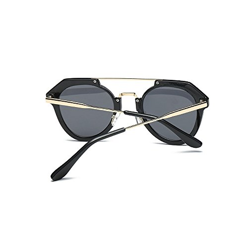 mujeres Retro únicas cerradas hombres de las Gafas que sol las para de las sol y de sol ULTRAVIOLETA de del polarizadas Gafas conduce unisex Protección gafas los plástico para Negro marco retro de gafas sol x8aCrxwq