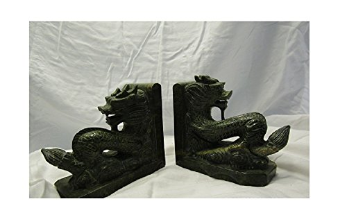Beautiful Rare Vintage Jade Dragon (Jade Bookends)