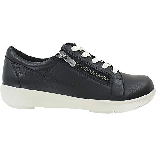 Ziera Women's Space Black Leather 39 Wide (Ziera Shoes)