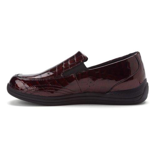 Trok Schoen Womens Violet Slip Op Loafers Bruine Croc
