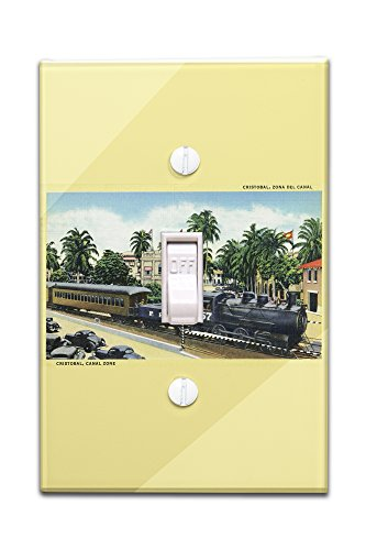 Cristobal, Panama - Train Passing through the Canal Zone (Light Switchplate Cover)