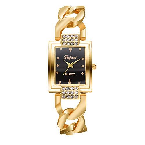 Women's Watches Bracelet Quartz Wrist Watch with Small Dial,Bangle Cuff Bracelet Wrist Watch for Girl (B)