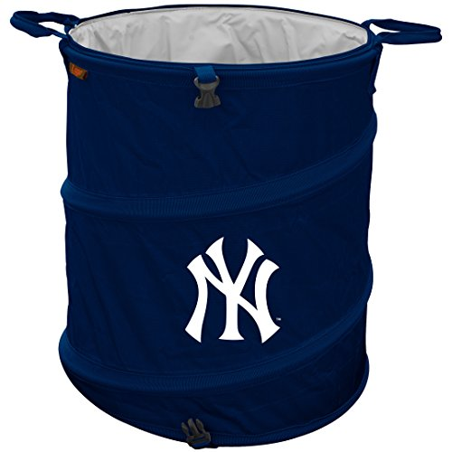 Logo NCAA New York Yankees 3-in-1 Collapsible Trash Can, Cardinal ()