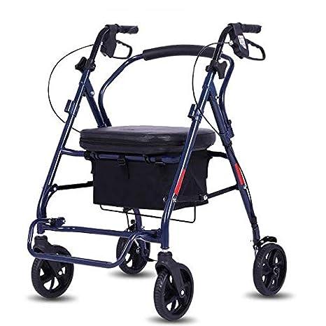 Andador con ruedas de aluminio con asiento y respaldo ...