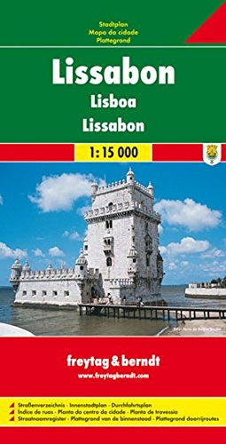 Freytag Berndt Stadtpläne, Lissabon: City Map (Freytag u. Berndt Stadtpläne/Autokarten). 1:15 000.