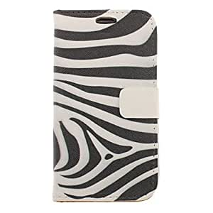 Zebra Stripe Drawing Pattern Faux Leather Hard Plastic Cover Pouches for Samsung Galaxy S3 I9300