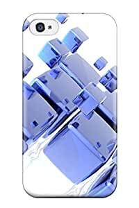 Jose Cruz Newton's Shop New Style Durable Defender Case For Iphone 4/4s Tpu Cover(3d Cubes)