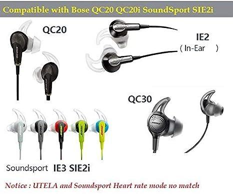Ersatz Ger/äuschisolierung In-Ear mit extra Schicht Komfort-Ohrst/öpsel f/ür Bose Ear Tipps QC20/QC20i qc30/SoundSport SIE2/SIE2i IE2/IE3 2Black-Small 2Black-S