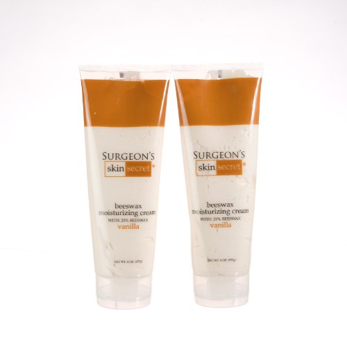 (25% Beeswax Cream 8oz Squeeze Tube - Vanilla - 2 Packs )