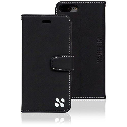 Anti Radiation RFID iPhone Case: iPhone 7 Plus and iPhone 8 Plus ELF & RF Blocking Identity Theft Protection Wallet ()