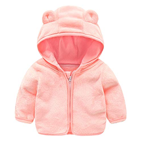 Jchen(TM) Baby Infant Girls Boys Autumn Winter Cute Ear Hooded Coat Jacket Thick Warm Outwear Coat for 0-24 Months (Age: 3-4 Years Old, Pink)