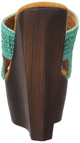 Para Mujer Sbicca Sandalia Cuña Tahiti Turquesa AAIrw