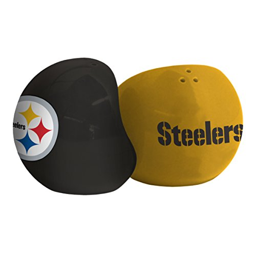 NFL Pittsburgh Steelers Sculpted Home and Away Salt & Pepper - Steelers Pittsburgh Salt Nfl
