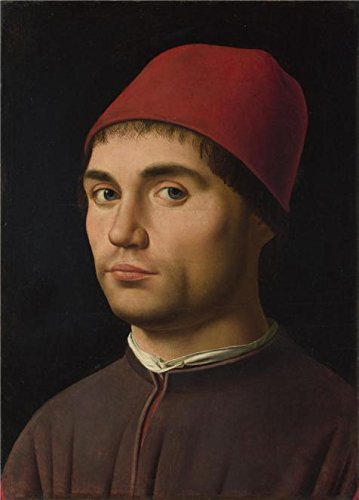 Oil Painting 'Antonello Da Messina-Portrait Of A Man,about 1475-6' Printing On Perfect Effect Canvas , 10x14 Inch / 25x35 Cm ,the Best Powder Room Decor And Home Decoration And Gifts Is This Cheap But High Quality Art Decorative Art Decorative Canvas Prints (Portrait Portrait 6' Apron)