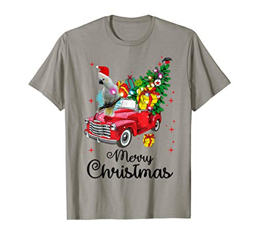 Red Cockatoo - Cockatoo Bird Rides Red Truck Christmas Pajama T-Shirt