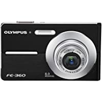 Olympus FE360 8MP Digital Camera with 3x Optical Dual Zoom (Black)