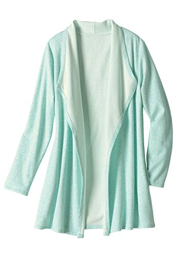 AmeriMark Knit Lounge Jacket Plus Size Mint ()