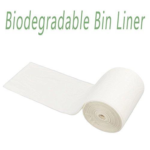 Morcte 100% Biodegradable Compost Bags, 6 Gallon Food Scraps Yard Waste Bags, 100 Counts, F