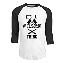 Dispear Men's Its A Guard Thing Guardians 3/4 Sleeve Raglan Shirt