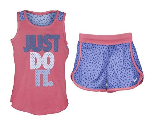 Nike Toddler Dotted JDI Tank & Shorts Set - Royal Tint (4T) (Tops Nike Tank Girls)