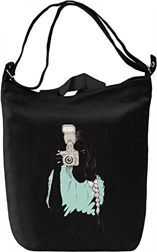 Photographer Girl Borsa Giornaliera Canvas Canvas Day Bag| 100% Premium Cotton Canvas| DTG Printing|