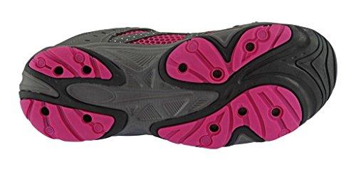 Rockin Schoeisel Womens Amfibische Atletische Wandelen Zwemmen Water Schoen Aqua Sneaker Grijs / Roze