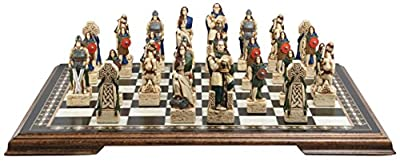 Celtic Themed Chess Set - 4.5 Inches - In Presentation Box - Handmade and Hand-painted in UK