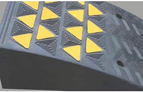 ZAIHW ゴム製傾斜路、縁石傾斜路頑丈な縁石傾斜路私道車車いすしきい値ランプ黄色の反射フィルム付き40 * 50 * 19 cm