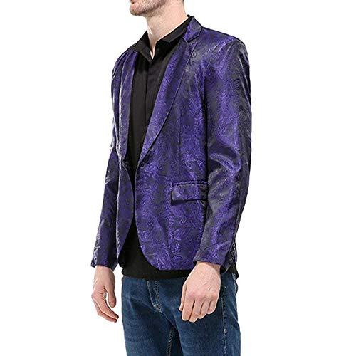 Blazer Vêtements De Un Party Bouton Suit Mariage Fit Business Modèle Classique Pour Hommes Le Super Violet Veste Smoking qx850wUn6