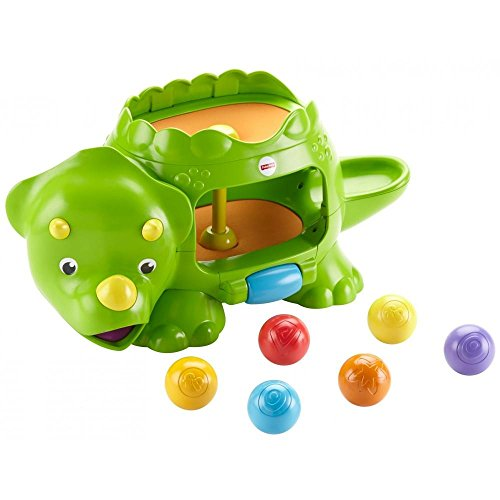 Fisher-Price, Baby's Motor Skills Double Poppin' Dino, Green