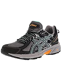ASICS Women's Gel-Venture 6 Black/Ice Green Hot Orange Ankle-High Running Shoe - 8M