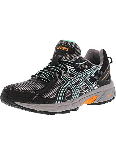 ASICS Women's Gel-Venture 6 Running Shoe, Black/Ice Green/Orange, 8 M US (Best Asics For Underpronation)
