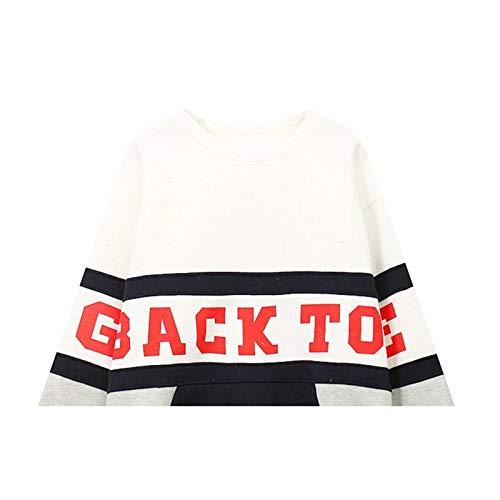 Blanco Hooded Sweater Loose Colorblock Moda Warm Calientes De Plus Señoras Y Tops Las Velvet Cálido fB1Cxw6W
