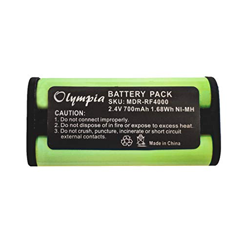 BP-HP550-11 Replacement Battery for Sony BP-HP550-11 Headphone Battery (700mAh, 2.4V, Ni-MH) -  Olympia Battery, MDR-RF4000-1
