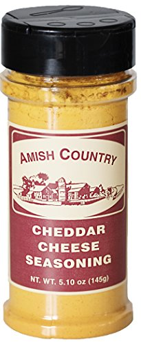 Amish Country Popcorn - Cheddar Cheese Popcorn Seasoning (5.1 Ounces) Old Fashioned with Recipe Guide