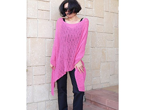 Pink Poncho Cotton Yarn #003A