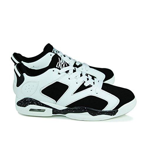 caño botas negro bajo adulto Unisex blanco de y LFEU wvcEqdaZWE