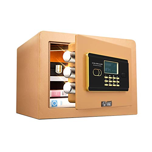 Small Invisible Cabinet Security Closet Password Office Safe Anti-Theft Mini Alarm Safe Deposit Box 25cm Bedside Cabinet Safes (Color : Gold, Size : 363026.5cm) ()