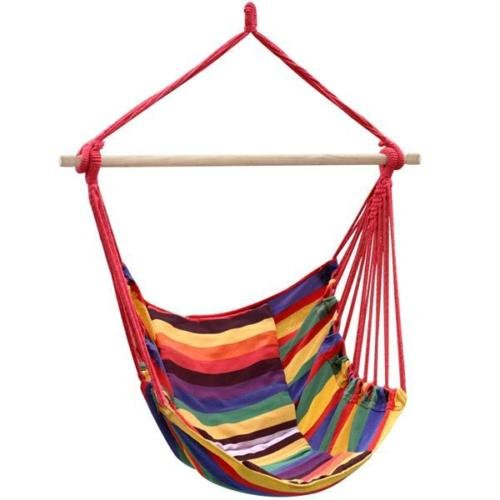 Chair Hammock Hanging Swing Porch Outdoor Rope Patio Seat Air Stand Polyester Large Caribbean - Kauai On Shopping