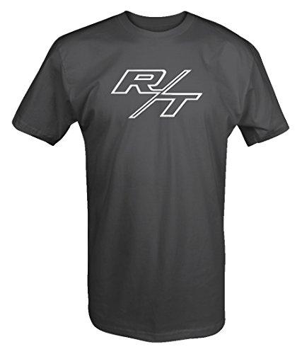 Logo Muscle Shirts (R/T RT Dodge Mopar Charger Challenger Hemi V8 Muscle Car Logo T shirt - 2XL)