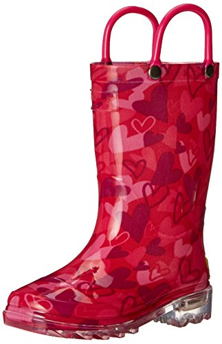 Western Chief Girls' Camo Light-Up Rain Pull-On Boot, Pink, 11 M US Little Kid (Umbrella Rain Boots compare prices)