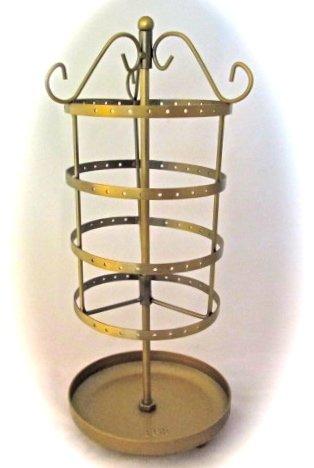 Amazoncom GOLD BRONZE Earring Go Round Carousel Metal Jewelry