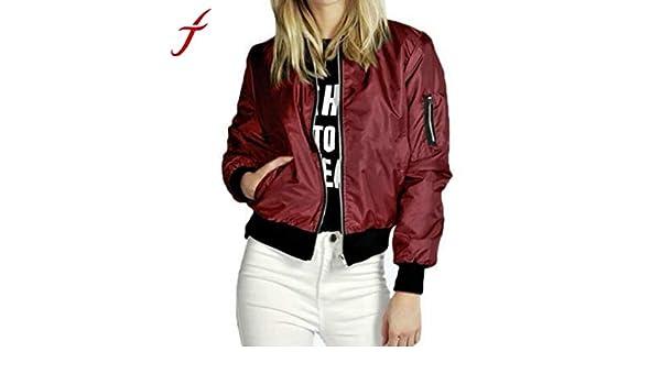 Phenomenally You Chaquetas Mujer Slim Biker Soft Zipper Short Coat at Amazon Womens Coats Shop